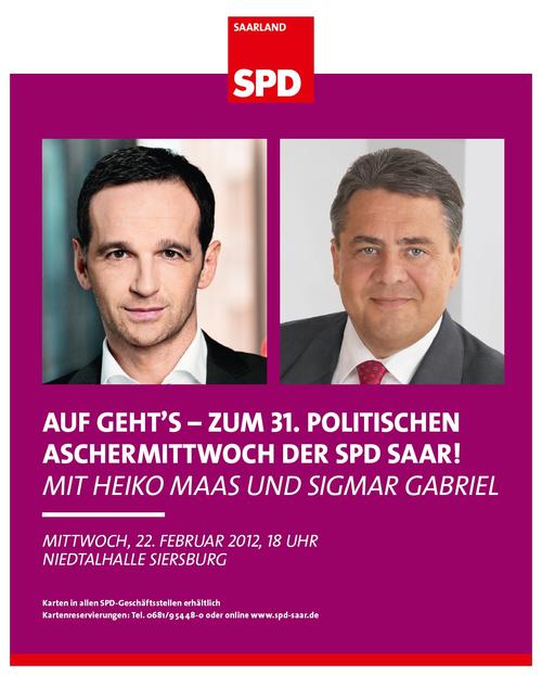 Politischer Aschermittwoch 2012 mit Heiko Maas und Sigmar Gabriel