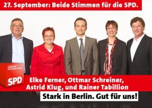 Stark in Berlin. Gut für uns! Beide Stimmen SPD.
