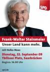 Frank-Walter Steinmeier in Saarbrücken